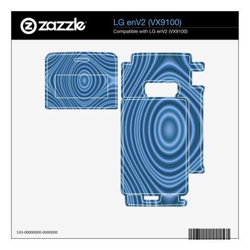 blue trendy pattern LG enV2 skin