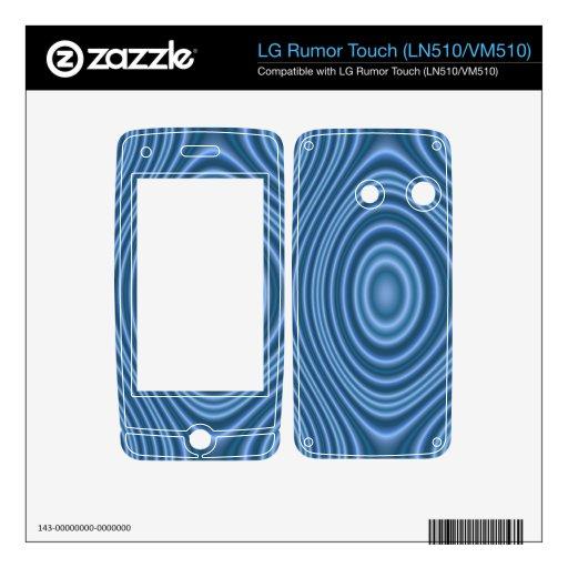 blue trendy pattern LG rumor touch skin