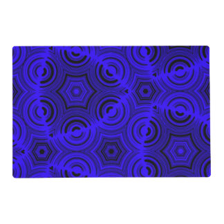 Blue trendy pattern placemat