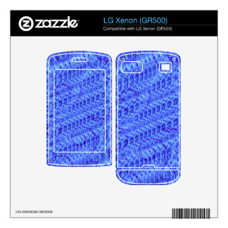 Blue trendy pattern LG xenon skins