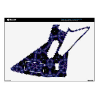 Blue Trendy Pattern Guitar Hero Decals