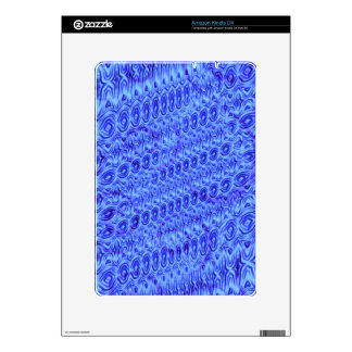 Blue trendy pattern decal for kindle