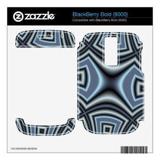 Blue trendy pattern BlackBerry skins