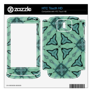 Blue Trendy pattern Skin For The HTC Touch HD