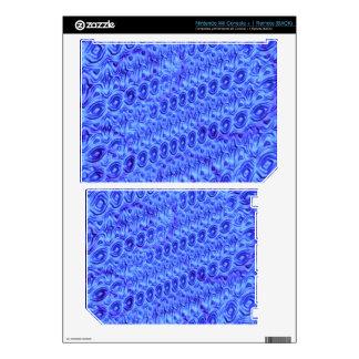Blue trendy pattern wii skins
