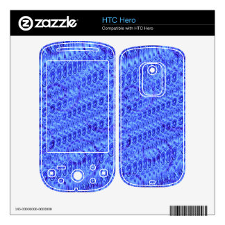 Blue trendy pattern skins for HTC hero