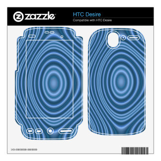 blue trendy pattern skins for HTC desire