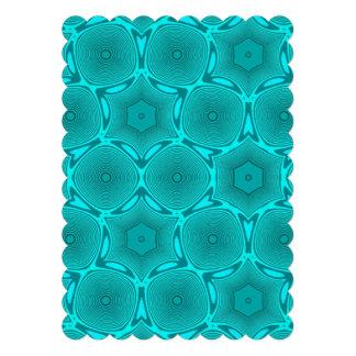 Blue trendy pattern stylish art announcements