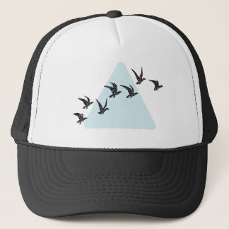 Blue Triangle Birds Trucker Hat