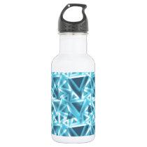 Blue Triangle; Cool Pattern Water Bottle