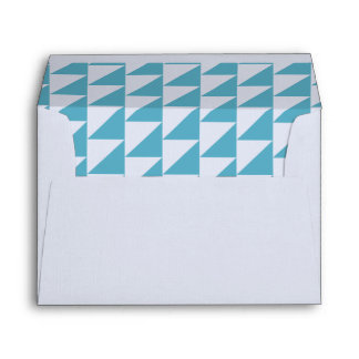 Blue Triangle Geometric Envelope Collection