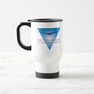 Blue Triangle Logo Travel Mug