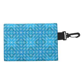Blue triangle mosaic accessories bag