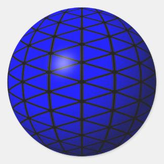 blue triangle sphere sticker