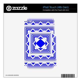 Blue Triangles and Lines Decal For iPod Touch 4G