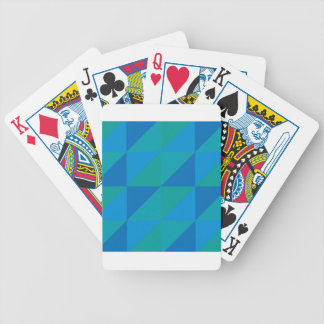 Blue Triangles Bicycle Playing Cards