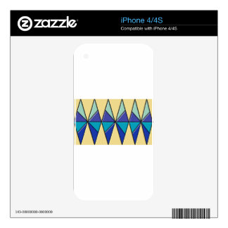 blue triangles effect.jpg decals for iPhone 4S