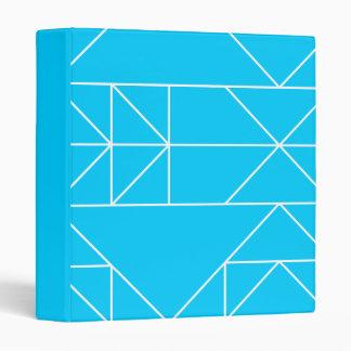 Blue Triangles Horizontal Pattern Avery Binder