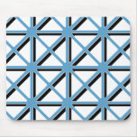 Blue Triangles Pattern Mousepads