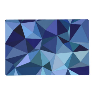 Blue triangles placemat