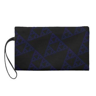 Blue Triangles Wristlet