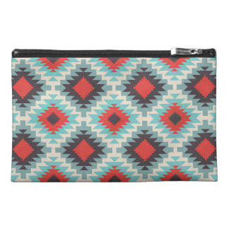 Blue Tribal Abstract Travel Accessory Bag