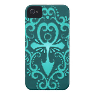 Blue Tribal Ankh iPhone 4 Case-Mate Cases