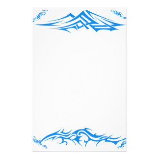 Blue Tribal Artwork Design Stationery