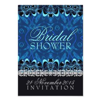 "Blue Tribal Batik Bridal Shower Invitations 5"" X 7"" Invitation Card"