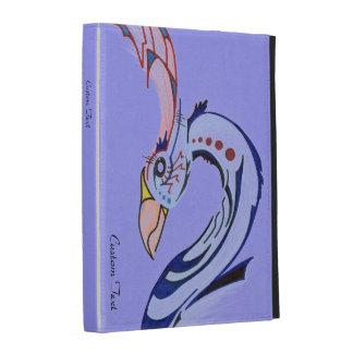Blue Tribal Bird iPad Folio Case