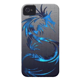 Blue tribal dragon phone case