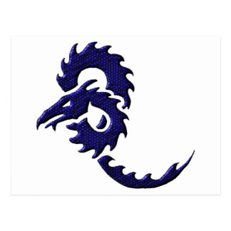 Blue Tribal Dragon Postcard