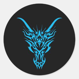 Blue Tribal Dragon Sticker