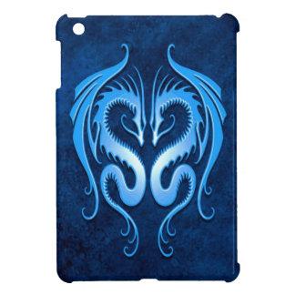 Blue Tribal Dragons iPad Mini Cover