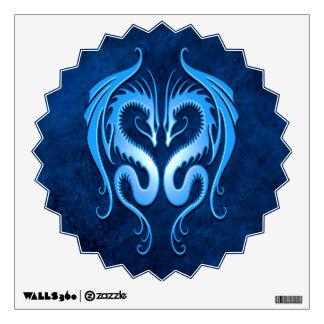 Blue Tribal Dragons Wall Sticker