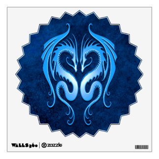 Blue Tribal Dragons Room Graphic