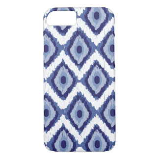 Blue Tribal Ikat Diamond White Chevron iPhone 8/7 Case