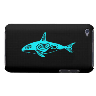 Blue Tribal Killer Whale Barely There iPod Cover