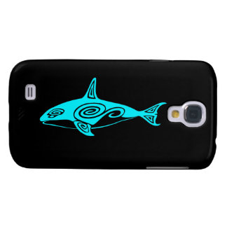 Blue Tribal Killer Whale Samsung Galaxy S4 Covers