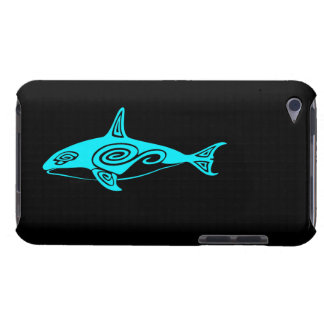 Blue Tribal Killer Whale Barely There iPod Cases