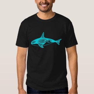 Blue Tribal Killer Whale Shirt