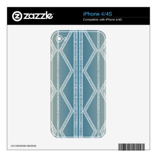 Blue Tribal Lines Skin For The iPhone 4