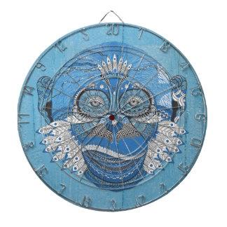 Blue Tribal Monkey Dart Board