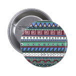 Blue tribal pattern buttons