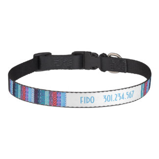 Blue Tribal Pattern Pet Collar
