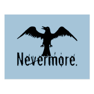 Blue Tribal Raven Nevermore Postcard
