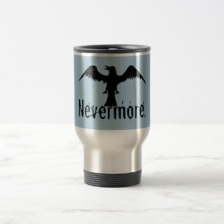 Blue Tribal Raven Nevermore Travel Mug