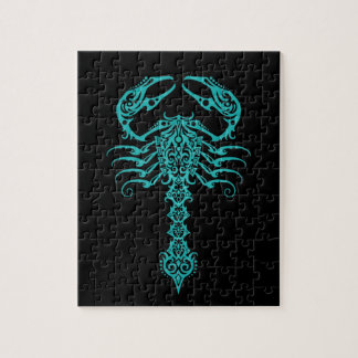 Blue Tribal Scorpion Jigsaw Puzzle
