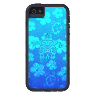 Blue Tribal Turtle Cover For iPhone 5