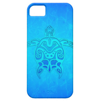 Blue Tribal Turtle iPhone SE/5/5s Case